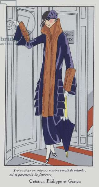 Women's fashion of the 1920s by designer Philippe and Gaston (colour litho)