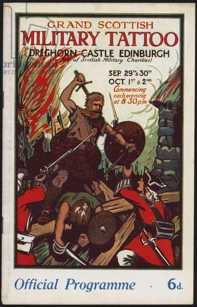 Programme for the Grand Scottish Military Tattoo, Dreghorn Castle, Edinburgh, 1926 (colour litho)