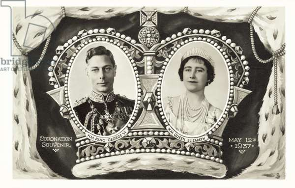 Souvenir of the Coronation of King George VI and Queen Elizabeth, 12 May 1937 (b/w photo)