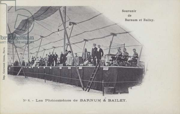 Performers of Barnum and Bailey's Circus (b/w photo)