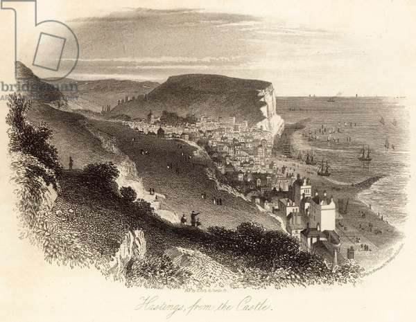 Hastings from the Castle (engraving)