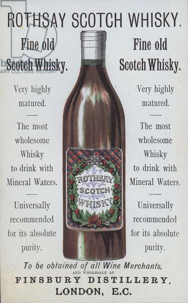 Advertisement for Rothsay Scotch Whisky (colour litho)