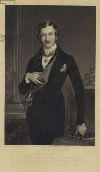 Portrait of Albert, the Prince Consort (engraving)