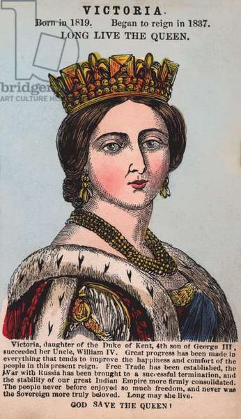 Queen Victoria (coloured engraving)