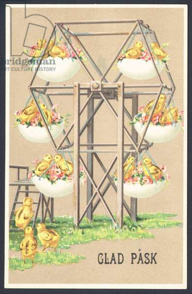 Swedish Easter card (colour litho)