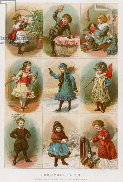 Christmas cards (colour litho)