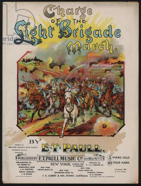 Charge of the Light Brigade March (colour litho)