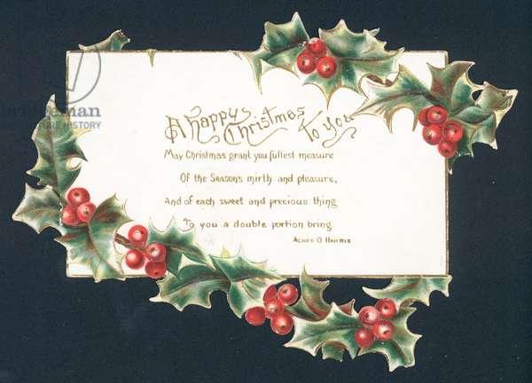 A Happy Christmas to You - Christmas card (chromolitho)