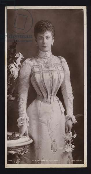 Mary of Teck, Princess of Wales, wife of the future King George V (b/w photo)