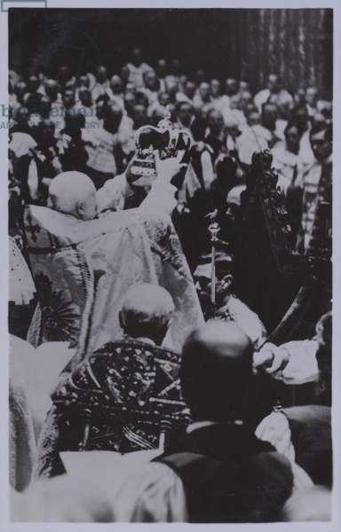Coronation of King George VI (b/w photo)