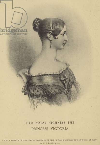 Portrait of Queen Victoria (litho)