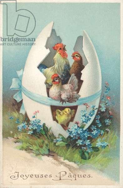 Happy Easter (chromolitho)