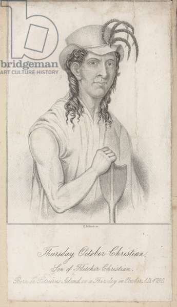 Thursday October Christian, son of Fletcher Christian (engraving)