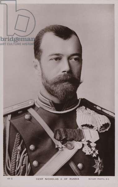 Tsar Nicholas II of Russia. (b/w photo)