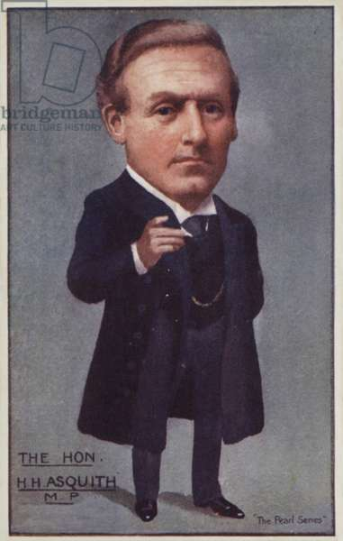 H H Asquith, English Liberal politician and Prime Minister (colour litho)
