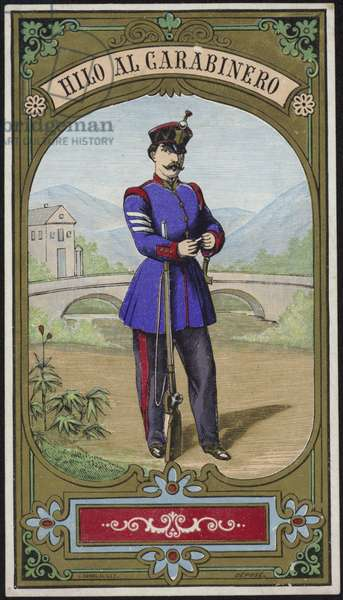 Label for Policeman's thread (colour litho)