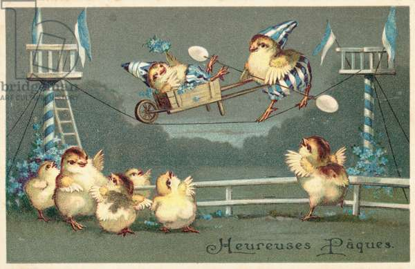 French Easter card (colour litho)
