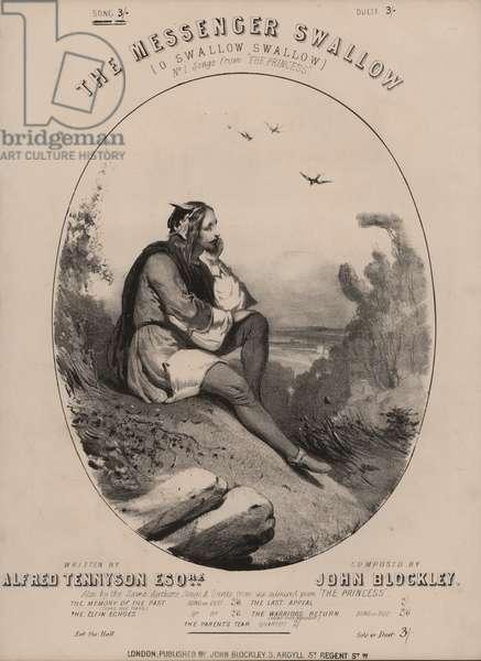 O Swallow Swallow, from Tennyson's The Princess (colour litho)