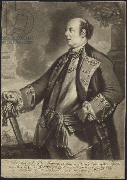 Portrait of Lieutenant General John Manners (litho)