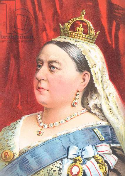 Queen Victoria - greetings card (chromolitho)