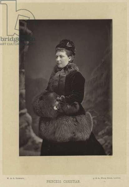 Portrait of Princess Helena (b/w photo)