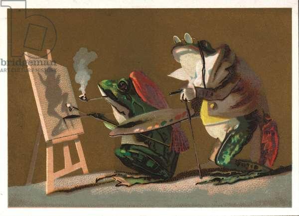 Artistic frogs (chromolitho)
