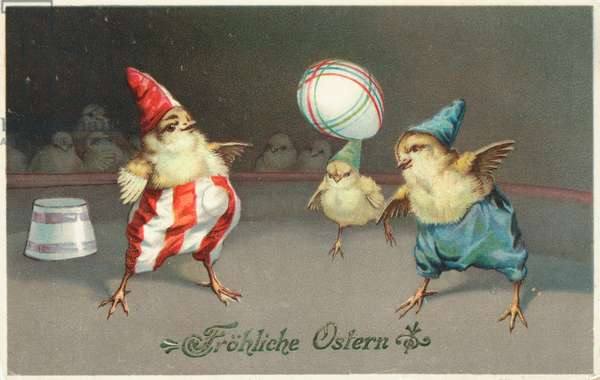 German Easter card (colour litho)