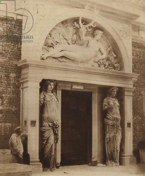 Central Doorway of the Renaissance Court (b/w photo)