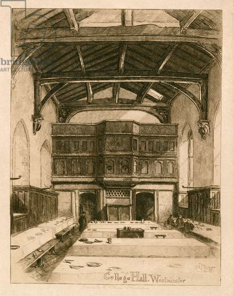 College Hall at Westminster School (engraving)