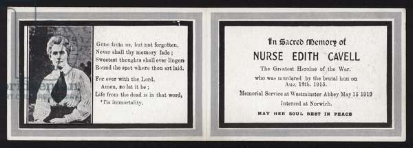 In Sacred Memory of Nurse Edith Cavell (litho)