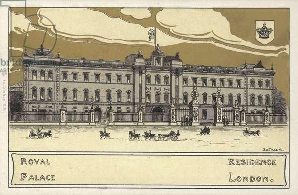 Buckingham Palace (colour litho)