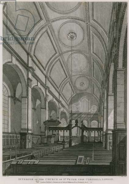 Church of St Peter upon Cornhill, London (engraving)