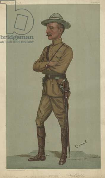 General Robert Stephenson Smyth Baden-Powell (colour litho)