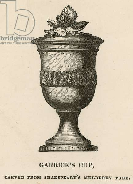 David Garrick's Cup, carved from William Shakespeare's Mulberry Tree (engraving)