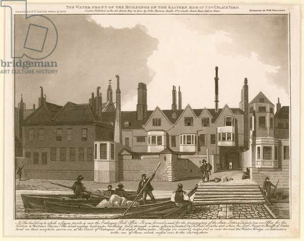 The Water Front of the Buildings on the eastern side of New Palace Yard (engraving)