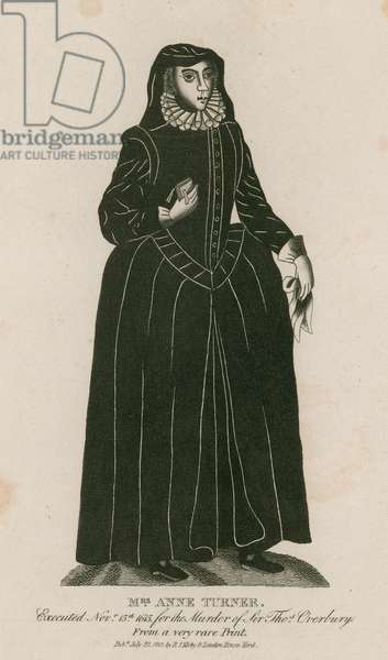 Mrs Anne Turner, executed 15 November1665 for the murder of Thomas Overbury (engraving)
