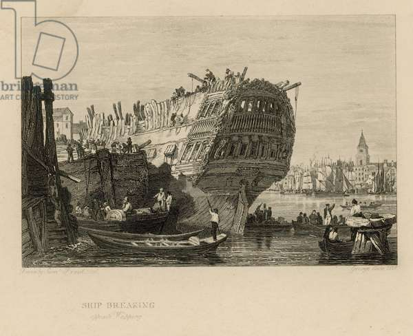 Ship breaking opposite Wapping (engraving)