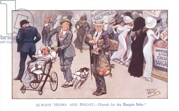 Always Merry and Bright - Hurrah for the Bargain Sales! (colour litho)