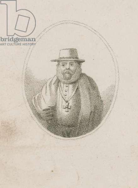Robert Keies, a member of the Gunpowder Plot (engraving)