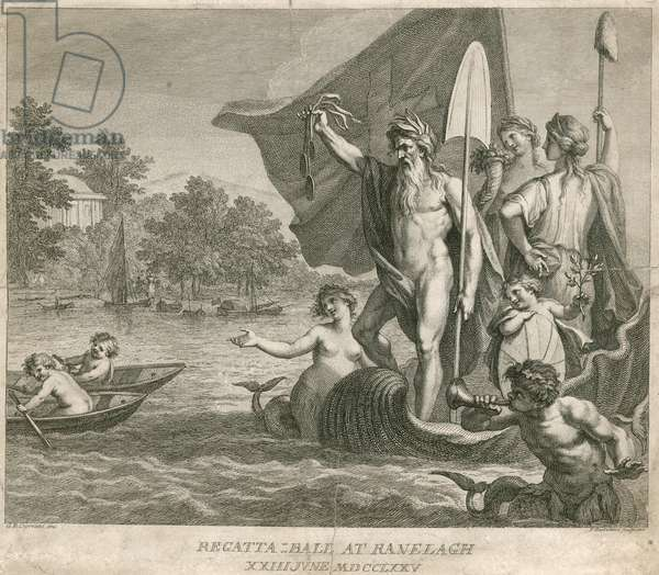 Regatta Ball at Ranelagh Gardens, Millbank, London, 23 June 1775 (engraving)
