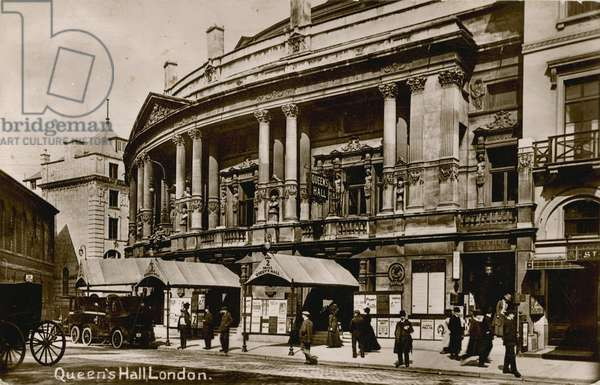 Queen's Hall, Langham Place, London May 1902 (photo)