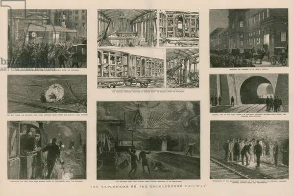 The explosions on the Underground Railway (engraving)