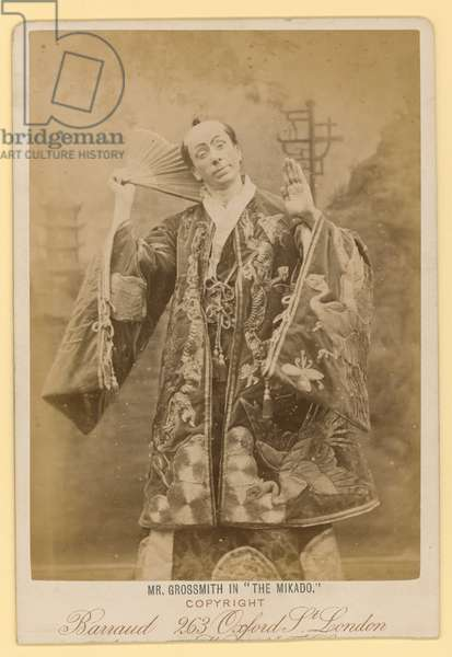 George Grossmith as Ko-Ko in The Mikado (photo)