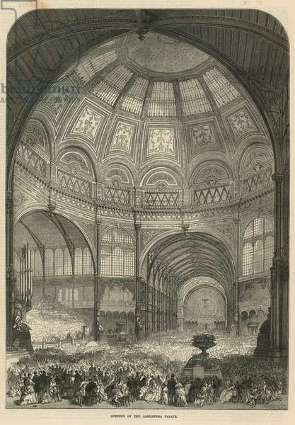 Opening of Alexandra Palace (engraving)
