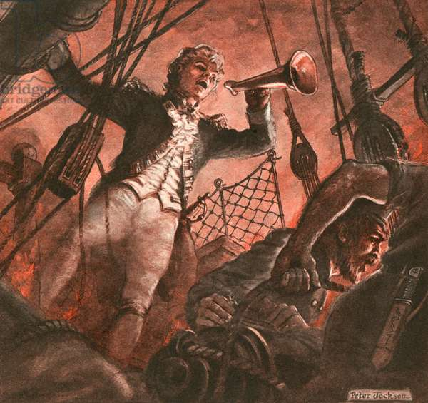 John Paul Jones, founder of the American navy (gouache on paper)