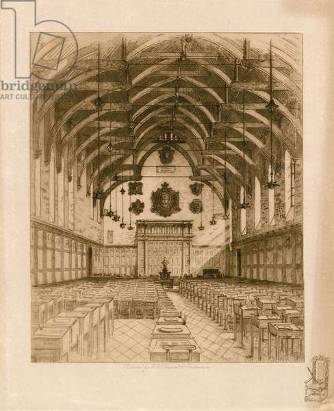Interior of Westminster School (engraving)