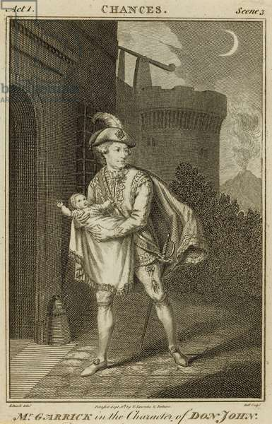 David Garrick, actor, in the character of Don John (engraving)