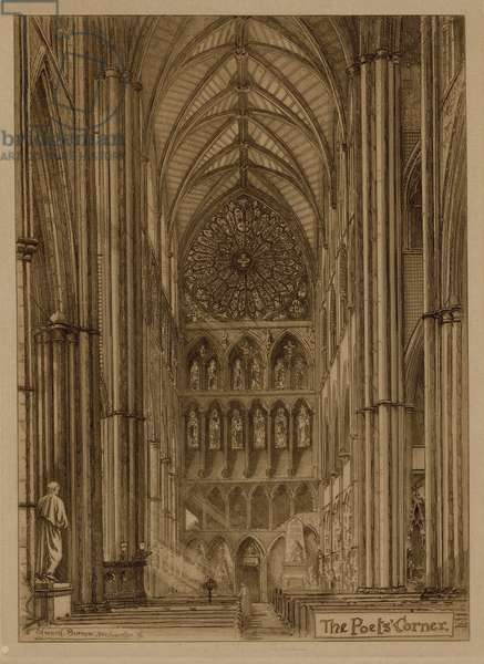 The Poets' Corner of Westminster Abbey (engraving)