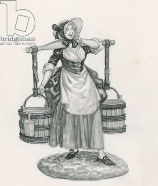 Milk maid (engraving)