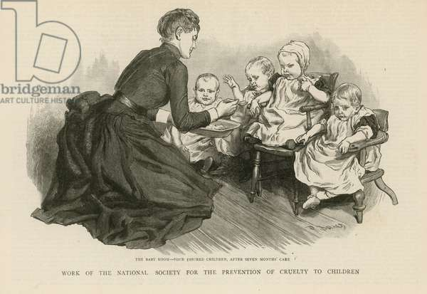 Work of the National Society for the Prevention of Cruelty to Children (engraving)